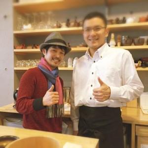 201412和多田さん、菅生茶茶の間にて